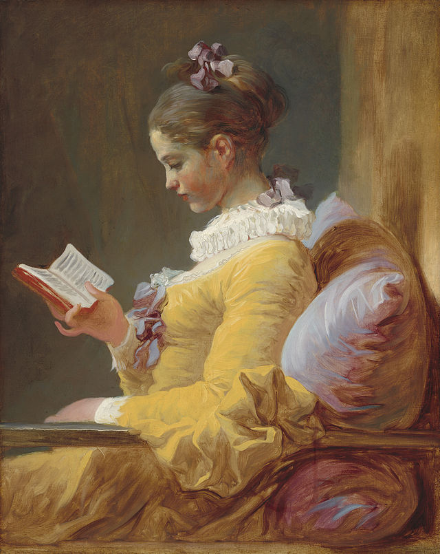 A Young Girl Reading, c. 1776, by Jean-Honoré Fragonard, National Gallery of Art, Washington, DC