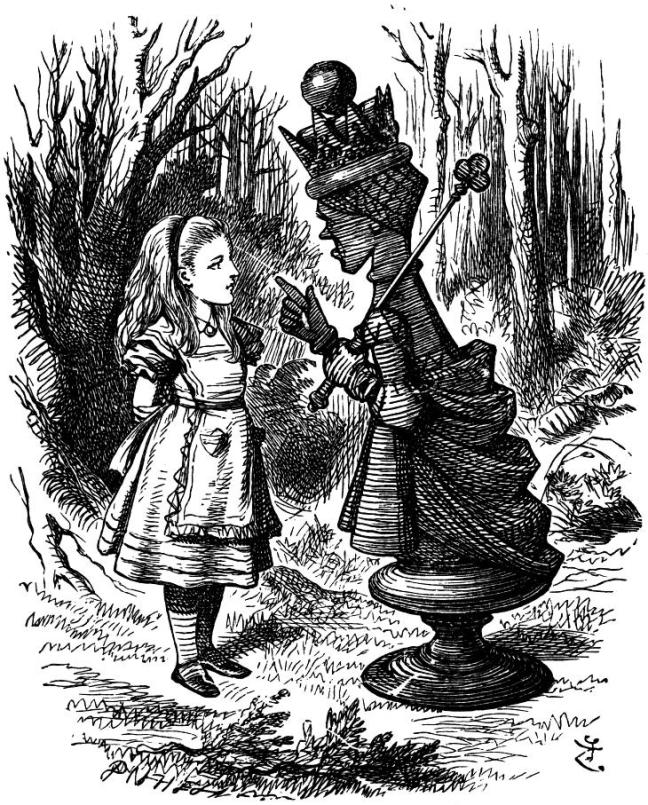 The Red Queen lecturing Alice, by John Tenniel