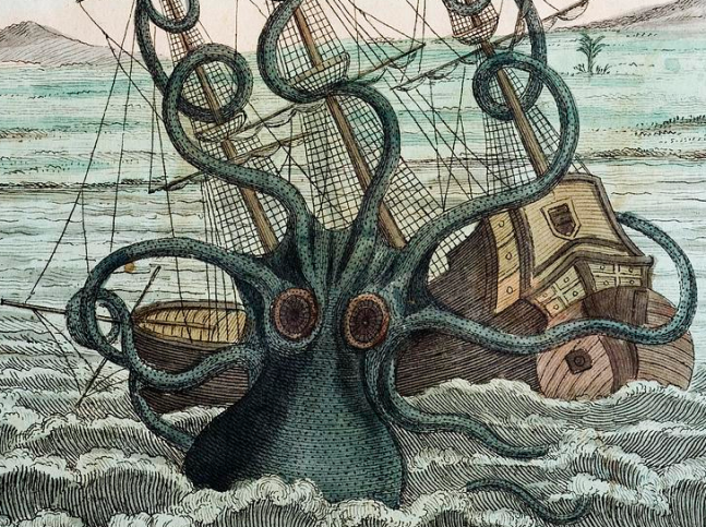 Colossal Octopus, Pierre Denys de Montfort, 1810